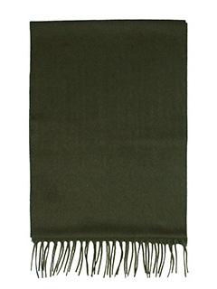 Lanvin-Sciarpa Logo in lana verde