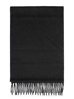 Lanvin-Sciarpa Logo in lana nera