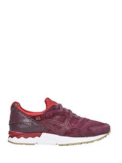 Asics-Sneakers Gel-lite V in pelle scamosciata bordeaux