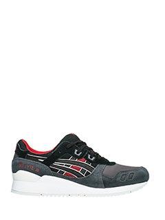 Asics-Asics Sneakers Gel-lite III in pelle scamosciata antracite
