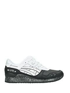 Asics-Asics Sneakers Gel-lite III in pelle nera e bianca