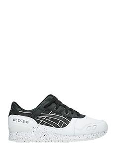 Asics-Asics Sneakers Gel-lite III in pelle bianca e nera