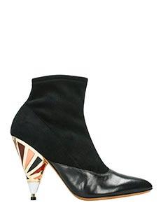 Givenchy-Tronchetti in suede elastico e pelle nera