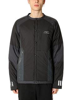 Adidas-Giacca Padded Cardigan  White Mountaineering in tessuto tecnico nero