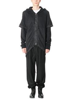 D.Gnak-Felpa Tail Zip Up in cotone nero