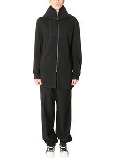 D.Gnak-Cappotto Zip Up Hoodie in lana nera.
