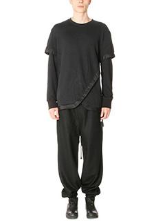 D.Gnak-Maglia Tail in cotone nero