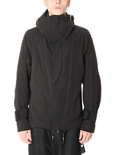 D.Gnak-Giacca High Neck Hooded in tessuto tecnico  nero