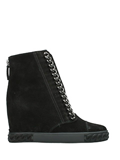 Casadei-black suede ankle boots
