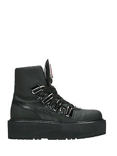 Puma-SB eyelet Rihan black rubber/plasic combat boots