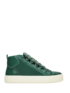 Balenciaga-Sneakers Holiday High in pelle verde