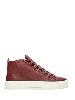 Balenciaga-Sneakers Holiday High in pelle bordeaux
