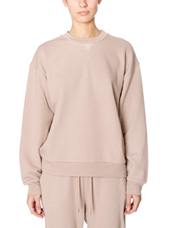 T by Alexander Wang-Felpa Soft Sweatshirt in cotone nude