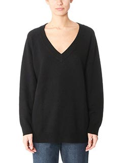 T by Alexander Wang-Maglia Neck Sweater in lana nera