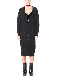 T by Alexander Wang-Vestito Long Cardigan in lana nera