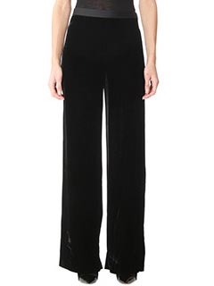 T by Alexander Wang-Pantalone Wilde Leg Pant in velluto nero