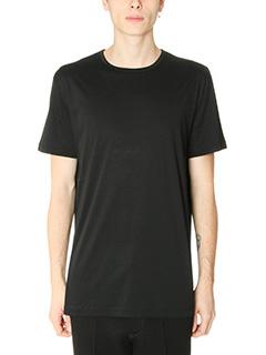 T by Alexander Wang-T-Shirt Mercerized in cotone nero