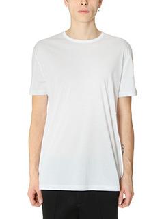 T by Alexander Wang-T-Shirt Mercerized in cotone bianco