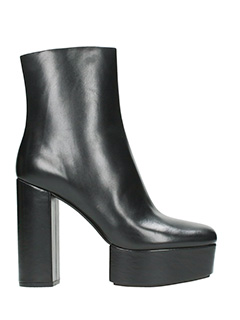 Alexander Wang-Cora black leather ankle boots