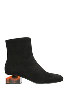 Alexander Wang-Kelly black suede ankle boots