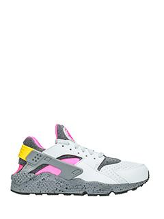 Nike-Sneakers Huarache Run in pelle bianca e rosa