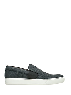 Lanvin-Sneakers Slip On  in pelle nera