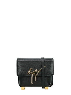 Giuseppe Zanotti-black leather clutch
