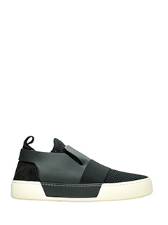 Balenciaga-Sneakers Slip On in pelle nera