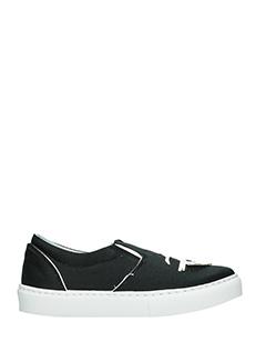 Chiara Ferragni-Sneakers CF Signature Slip On in pelle nera