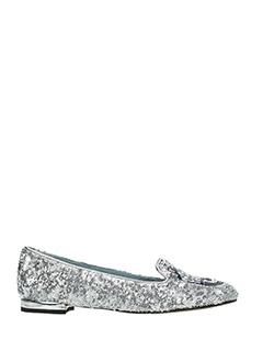 Chiara Ferragni-Slippers Flirting Eye  con paillettes argento
