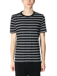 Maison Margiela-Stereotypical 3 x T-Shirt Stripes  in cotone nero bianco