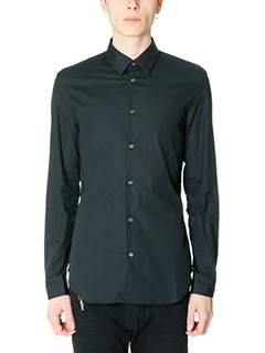 Maison Margiela-Camicia in cotone nero