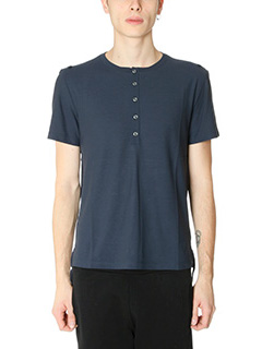 Maison Margiela-T-Shirt serafina in cotone blue