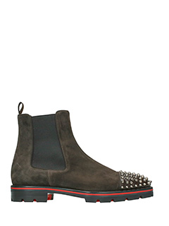 Christian Louboutin-Tronchetti Melon Spiked in camoscio marrone