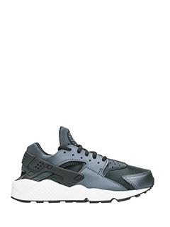 Nike-Sneakers Huarache Run in pelle metallic nera