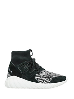 Adidas-Tubular doom black suede sneakers
