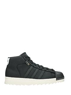 Adidas-Sneakers Pro Model Cordura 80 S in pelle e tessuto nero