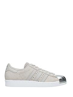 Adidas-Superstar 80s  grey suede sneakers
