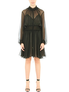 Chloé-black silk dress