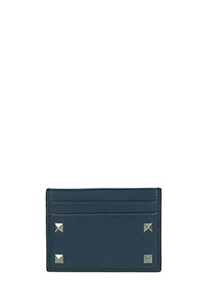 Valentino-Portacarte in pelle blue