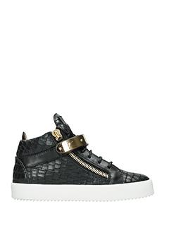 Giuseppe Zanotti-Sneakers Dan in pelle nera