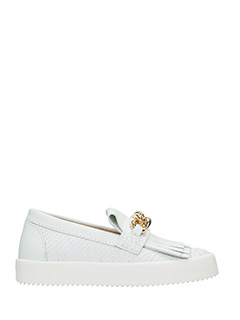 Giuseppe Zanotti-white leather loafers