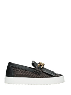 Giuseppe Zanotti-black leather loafers