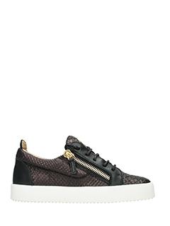 Giuseppe Zanotti-Sneakers  Kriss in pelle nera