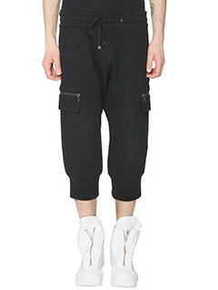 Helmut Lang-Pantaloni Cropped in cotone nero