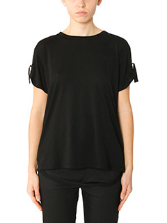 Helmut Lang-T-Shirt Back Strap in cotone nero