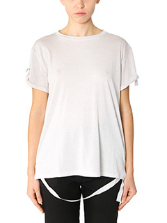 Helmut Lang-T-Shirt Back Strap in cotone grigio