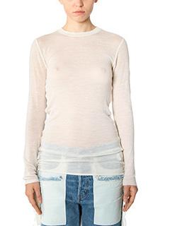 Helmut Lang-beige wool knitwear