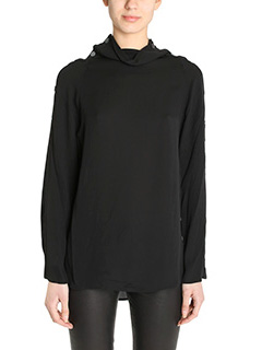 Theory-Brilivna black silk Blouse