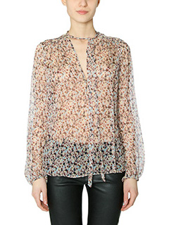 Theory-Bernetta multicolor silk Blouse